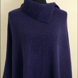 NWT Coldwater Creek Knitted Poncho Purple